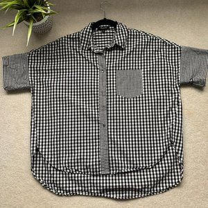 Madewell Black and White Gingham Hilltop Shirt